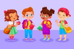 illustrated-happy-children-their-first-day-school_52683-40776